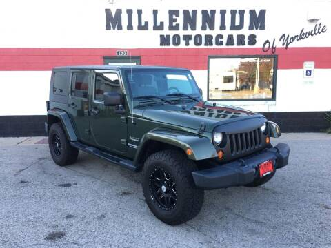 2009 Jeep Wrangler Unlimited for sale at Millennium Motorcars in Yorkville IL
