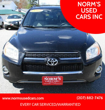 2012 Toyota RAV4 for sale at NORM'S USED CARS INC in Wiscasset ME