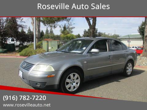 2002 Volkswagen Passat for sale at Roseville Auto Sales in Roseville CA