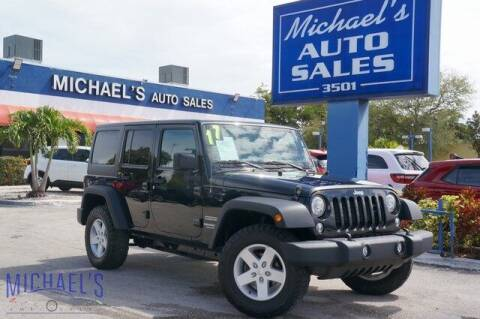 2017 Jeep Wrangler Unlimited for sale at Michael's Auto Sales Corp in Hollywood FL