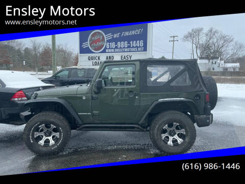 2009 Jeep Wrangler for sale at Ensley Motors in Allendale MI