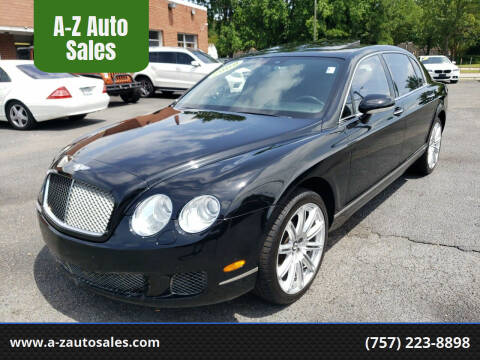 2009 Bentley Continental for sale at A-Z Auto Sales in Newport News VA