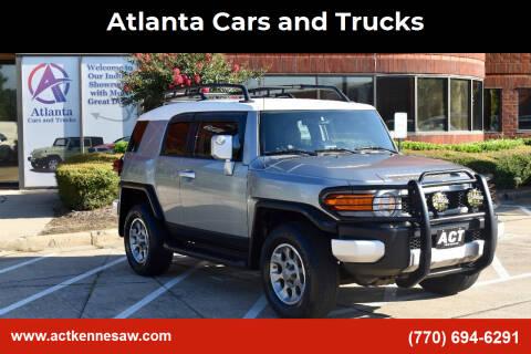 2012 Toyota FJ Cruiser for sale at Atlanta Cars and Trucks in Kennesaw GA