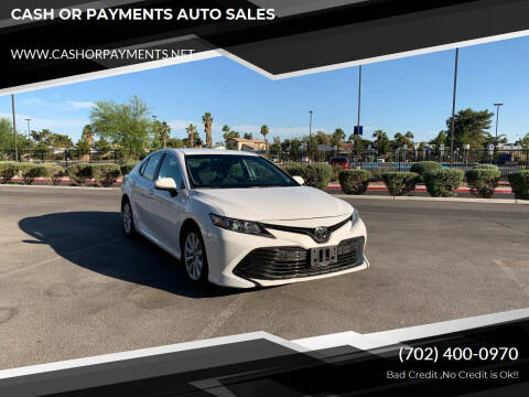 2018 Toyota Camry for sale at CASH OR PAYMENTS AUTO SALES in Las Vegas NV