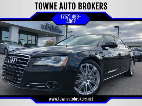 2012 Audi A8 L for sale at TOWNE AUTO BROKERS in Virginia Beach VA