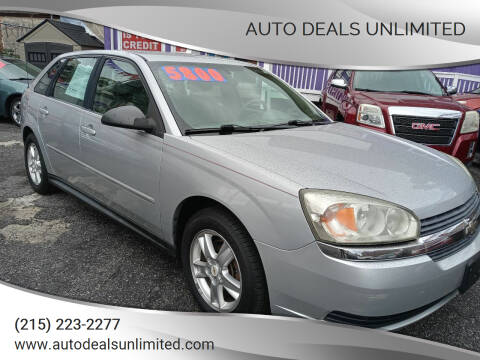 2005 Chevrolet Malibu Maxx for sale at AUTO DEALS UNLIMITED in Philadelphia PA