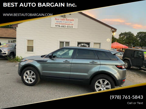 2017 Land Rover Range Rover Evoque for sale at BEST AUTO BARGAIN inc. in Lowell MA