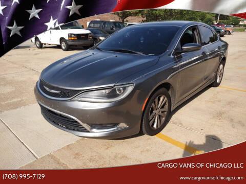2015 Chrysler 200 for sale at Cargo Vans of Chicago LLC in Mokena IL