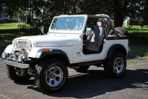 1982 Jeep CJ-7 for sale at Great Lakes Classic Cars & Detail Shop in Hilton NY