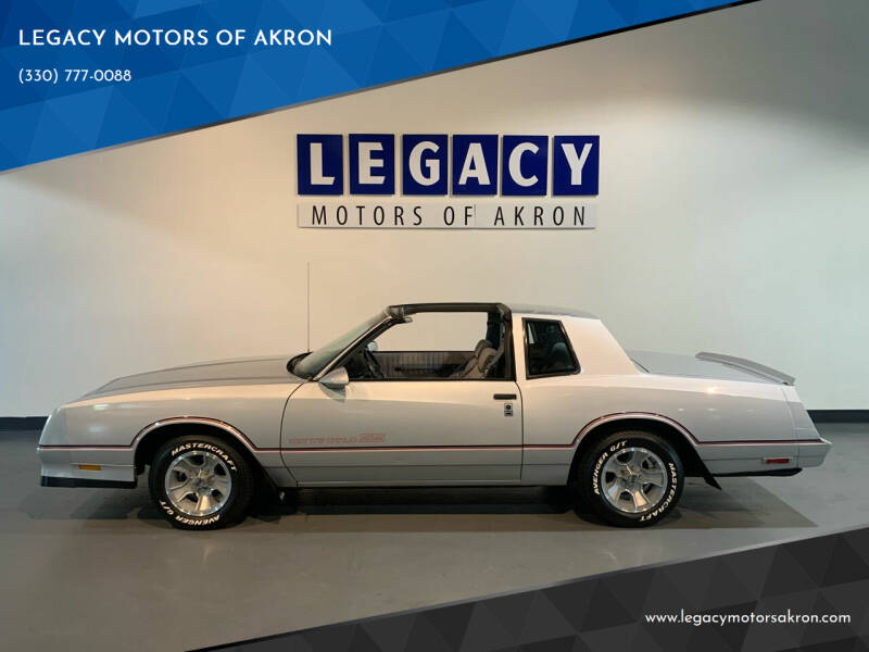 1986 Chevrolet Monte Carlo for sale at LEGACY MOTORS OF AKRON in Akron OH