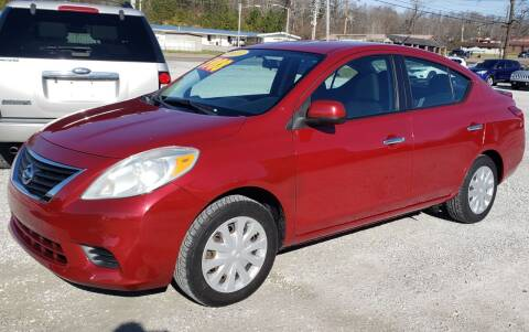 2013 Nissan Versa for sale at COOPER AUTO SALES in Oneida TN