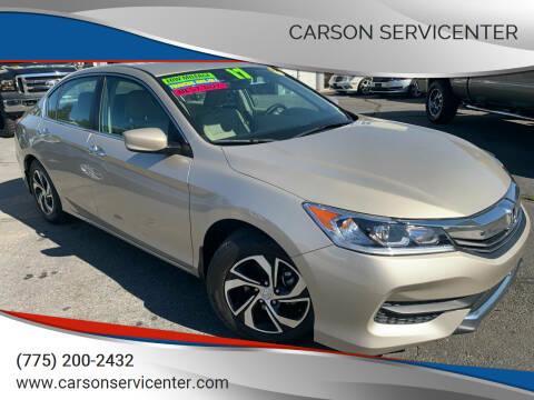 2017 Honda Accord for sale at Carson Servicenter in Carson City NV