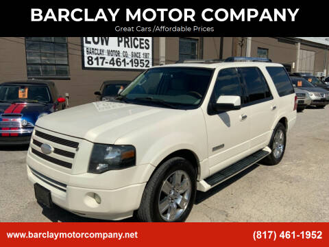 2008 Ford Expedition for sale at BARCLAY MOTOR COMPANY in Arlington TX
