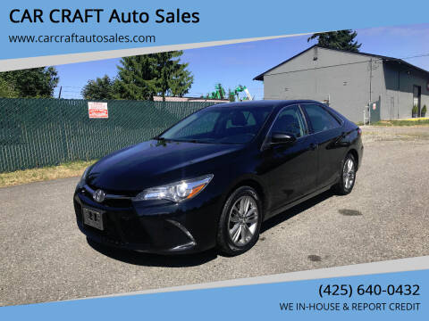 2016 Toyota Camry for sale at Car Craft Auto Sales Inc in Lynnwood WA