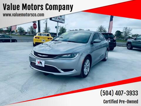 2016 Chrysler 200 for sale at Value Motors Company in Marrero LA