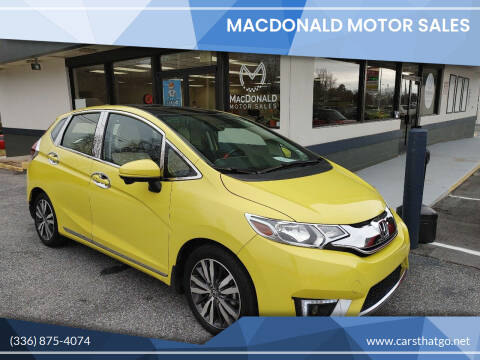 2016 Honda Fit for sale at MacDonald Motor Sales in High Point NC