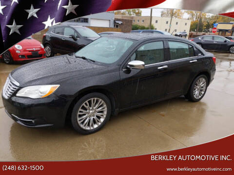 2012 Chrysler 200 for sale at Berkley Automotive Inc. in Berkley MI