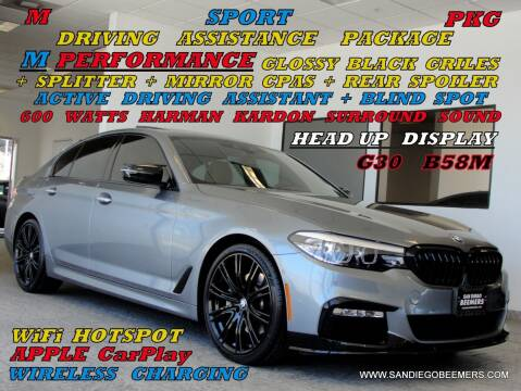 2018 BMW 5 Series for sale at SAN DIEGO BEEMERS in San Diego CA