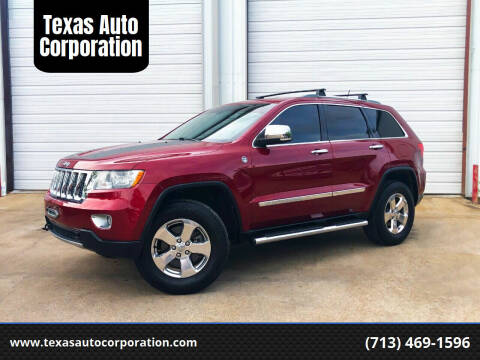 2012 Jeep Grand Cherokee for sale at Texas Auto Corporation in Houston TX