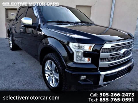 2016 Ford F-150 for sale at Selective Motor Cars in Miami FL