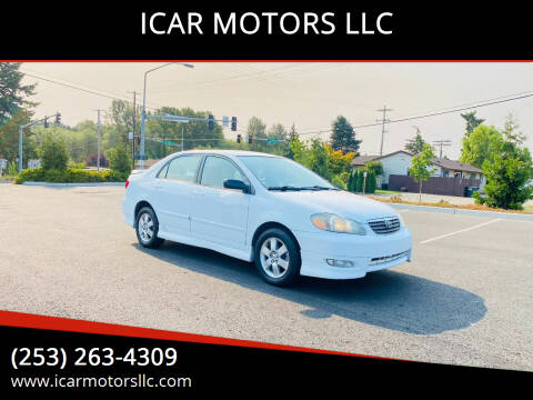 2007 Toyota Corolla for sale at ICAR MOTORS LLC in Federal Way WA