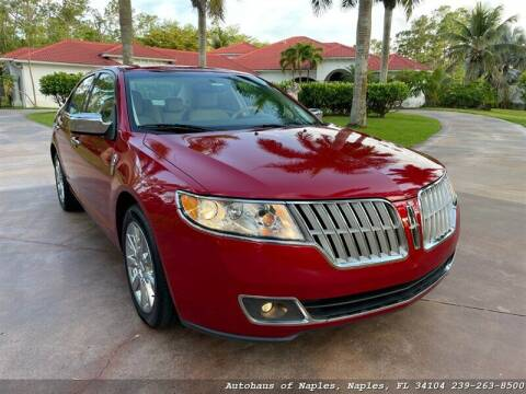 2010 Lincoln MKZ for sale at Autohaus of Naples Inc. in Naples FL