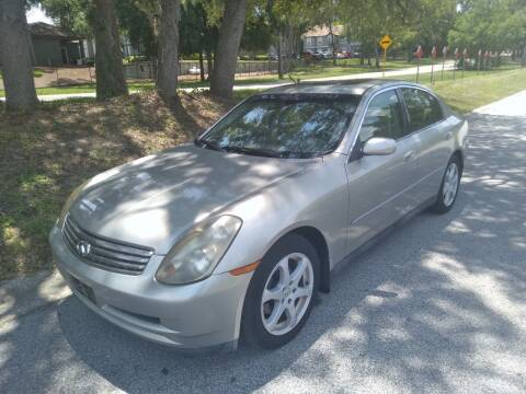 2004 Infiniti G35 for sale at Low Price Auto Sales LLC in Palm Harbor FL