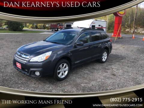 2013 Subaru Outback for sale at DAN KEARNEY'S USED CARS in Center Rutland VT