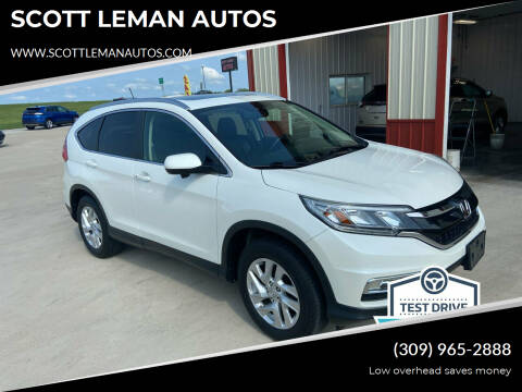 2015 Honda CR-V for sale at SCOTT LEMAN AUTOS in Goodfield IL