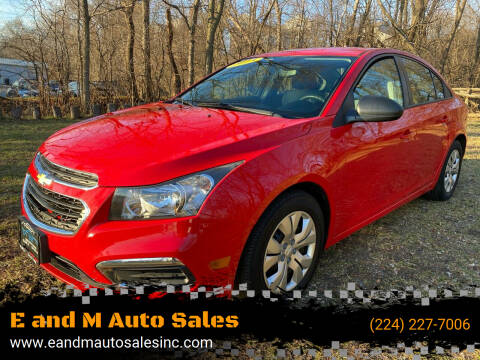 2015 Chevrolet Cruze for sale at E and M Auto Sales in East Dundee IL