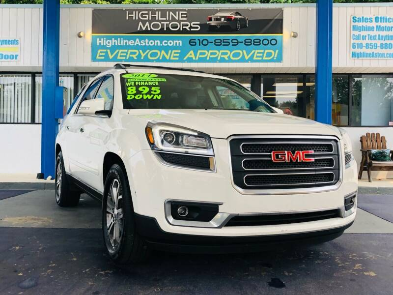 2014 GMC Acadia for sale at Highline Motors in Aston PA