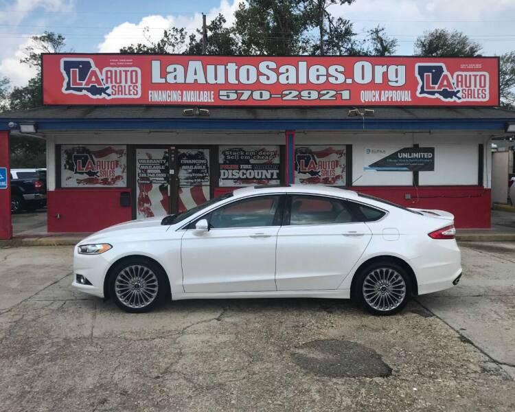 2015 Ford Fusion for sale at LA Auto Sales in Monroe LA