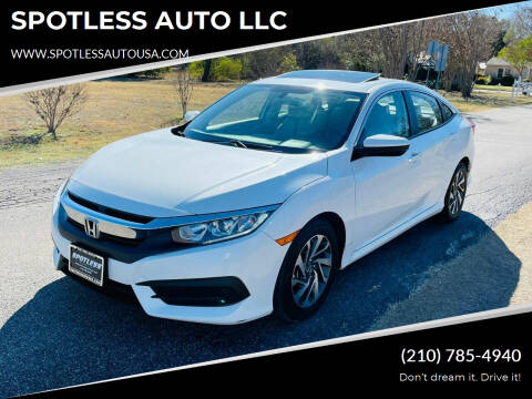 2018 Honda Civic for sale at SPOTLESS AUTO LLC in San Antonio TX