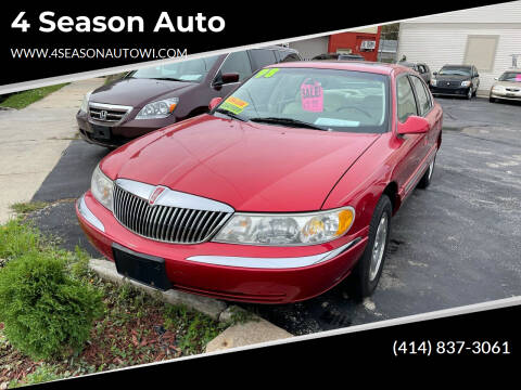 1998 Lincoln Continental for sale at 4 Season Auto in Milwaukee WI
