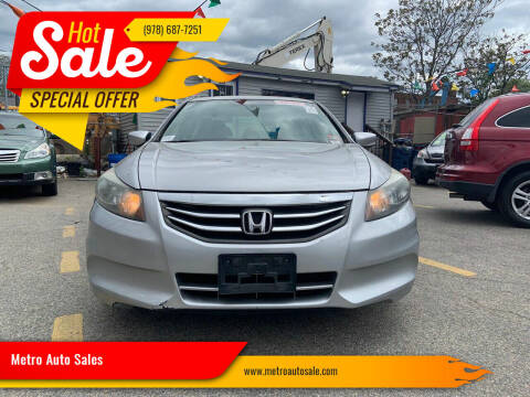 2011 Honda Accord for sale at Metro Auto Sales in Lawrence MA