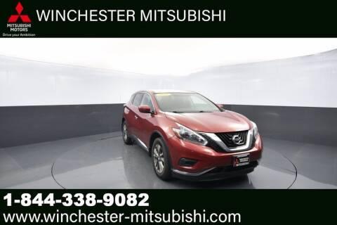2018 Nissan Murano for sale at Winchester Mitsubishi in Winchester VA