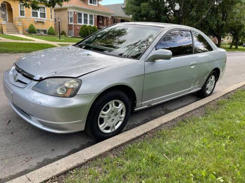 2002 Honda Civic for sale at Apollo Motors INC in Chicago IL