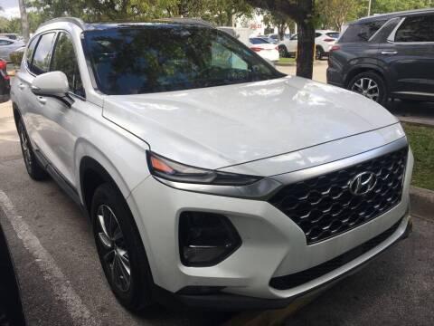 2019 Hyundai Santa Fe for sale at DORAL HYUNDAI in Doral FL
