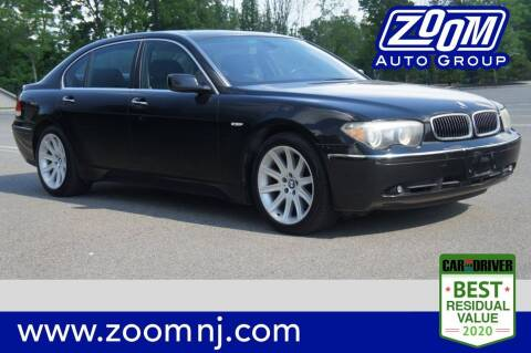 2005 BMW 7 Series for sale at Zoom Auto Group in Parsippany NJ