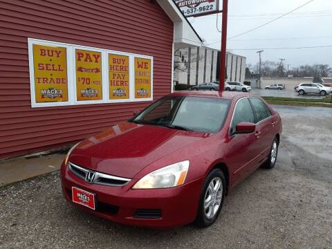 2007 Honda Accord for sale at Mack's Autoworld in Toledo OH