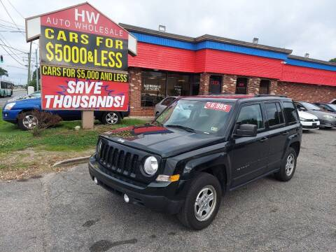 2013 Jeep Patriot for sale at HW Auto Wholesale in Norfolk VA