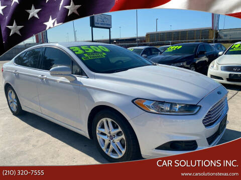 2013 Ford Fusion for sale at Car Solutions Inc. in San Antonio TX