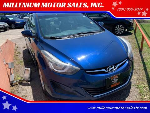 2015 Hyundai Elantra for sale at MILLENIUM MOTOR SALES, INC. in Rosenberg TX