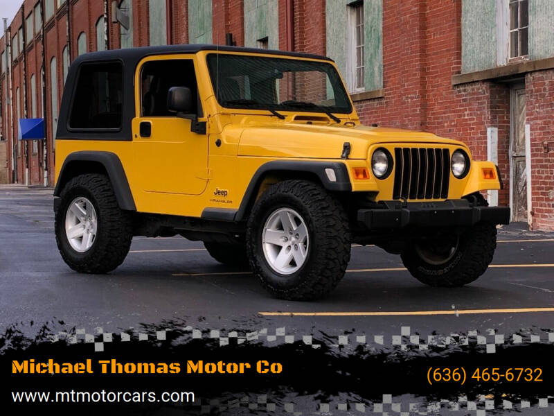 2006 Jeep Wrangler for sale at Michael Thomas Motor Co in Saint Charles MO