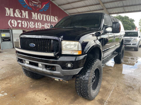 2001 Ford Excursion for sale at M & M Motors in Angleton TX