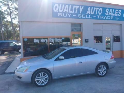 2004 Honda Accord for sale at QUALITY AUTO SALES OF FLORIDA in New Port Richey FL