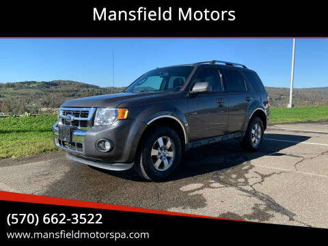 2012 Ford Escape for sale at Mansfield Motors in Mansfield PA