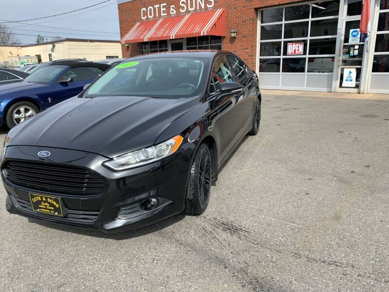 2014 Ford Fusion for sale at Cote & Sons Automotive Ctr in Lawrence MA