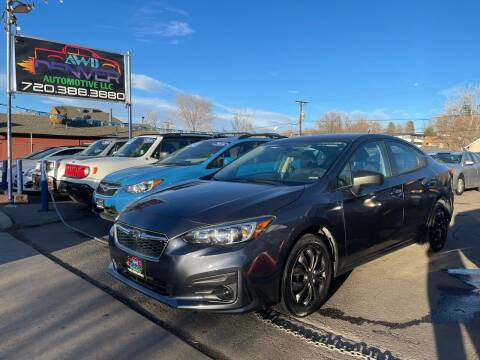 2017 Subaru Impreza for sale at AWD Denver Automotive LLC in Englewood CO