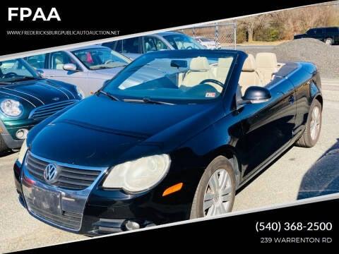 2008 Volkswagen Eos for sale at FPAA in Fredericksburg VA